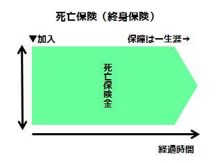 死亡保険(終身保険)の特徴)